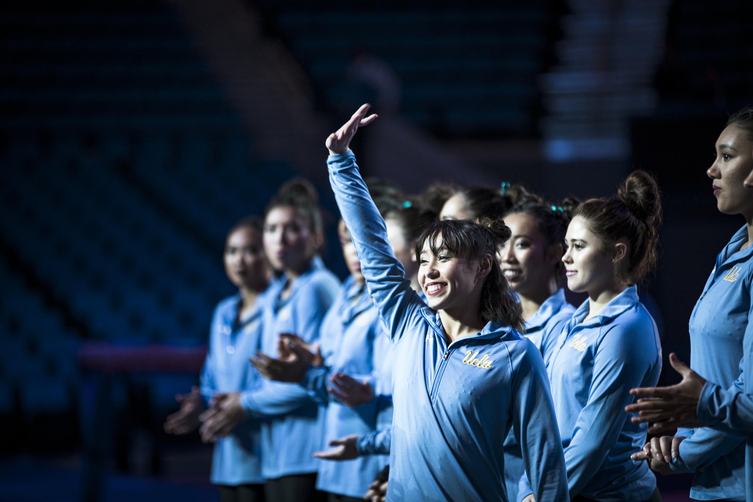 Gymnastics meet between the UCLA Bruins and San Jose State Spartans at Pauley Pavilion in Los Angeles, Calif. on March 13, 2018. (Photo by Megan McNally/The Players' Tribune)