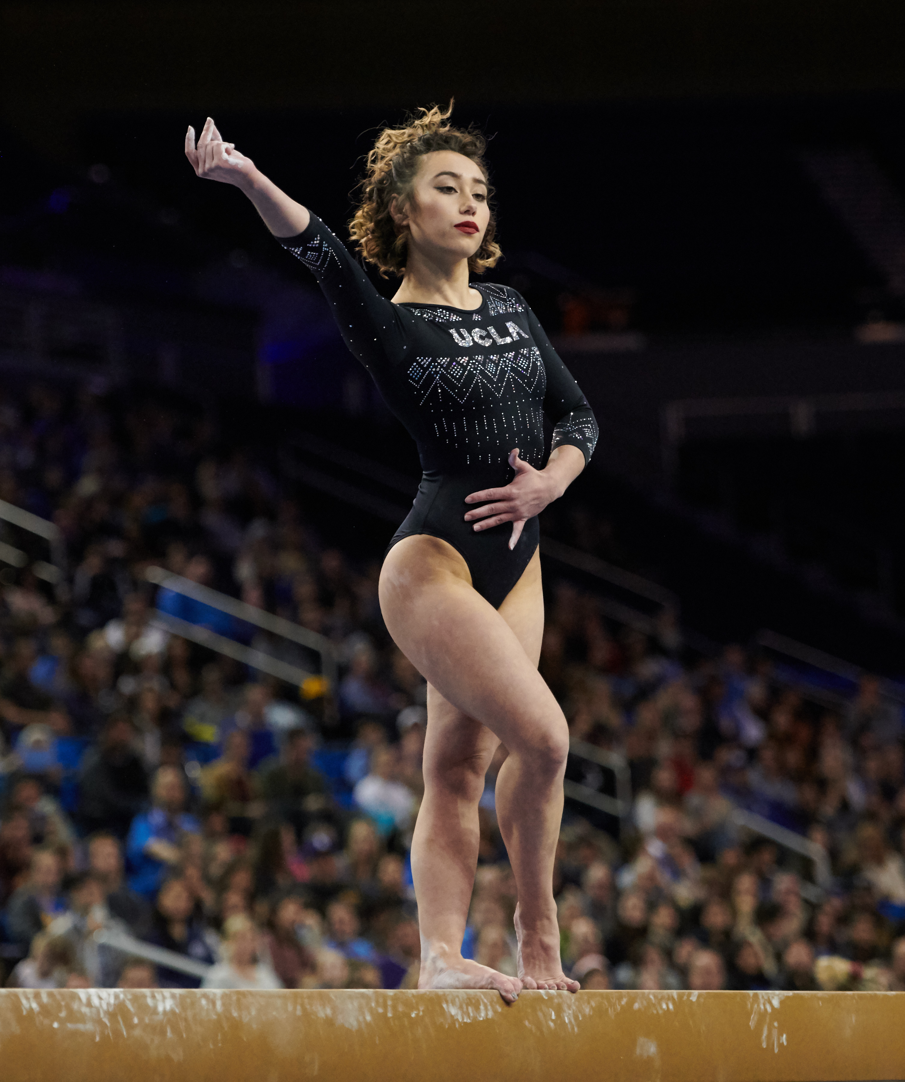 UCLA Athletics - 2019 UCLA Women's Gymnastics versus the University of Nebraska Cornhuskers. Pauley Pavilion, UCLA, Los Angeles, CA. January 4th, 2019 Copyright Don Liebig/ASUCLA 190104_GYM_1143.NEF