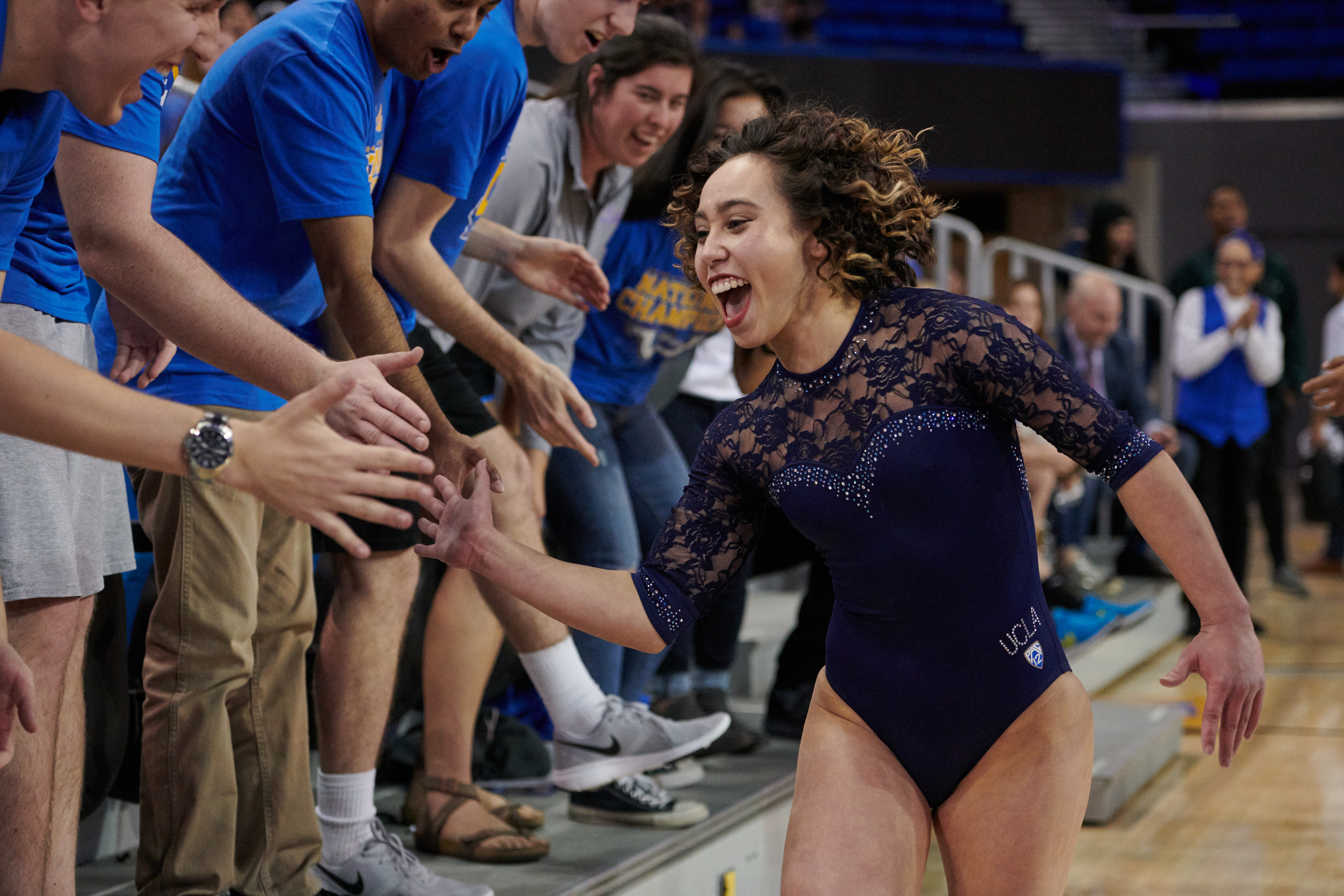 UCLA Athletics - 2019 UCLA Women's Gymnastics versus the Arizona State University Sun Devils. Pauley Pavilion, UCLA, Los Angeles, CA. January 21st, 2019 Copyright Don Liebig/ASUCLA 190121_GYM_1986.NEF